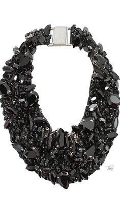 Brunello Cucinelli Swarovski On Silk Collar Necklace V/TB Jewelry Box, Jewelry Accessories, Fashion Accessories, Fashion Jewelry, Jewellery, How To Have Style, Maxi Collar, Expensive Jewelry, Swarovski Jewelry
