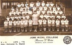 Kindergarten, Section A, Jose Rizal College, 1976 #kasaysayan #pinoy #classpicture Jose Rizal, Class Pictures, Pinoy, Over The Years, Kindergarten, Photo Wall, Chandelier, College, Ceiling Lights