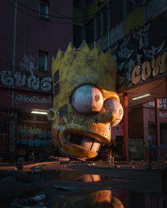 Caramba Me Digital (3D) 2020 Post Apocalyptic Art, Apocalypse Art, Urbane Kunst, Horror Themes, Beautiful Dark Art, Creepy Art, Fantasy Landscape, Dark Fantasy Art, Lovers Art