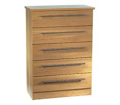 Loxley 5 Drawer Chest in Oak