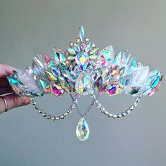 The Aurora Crystal and Quartz Gemstone Crown - Mermaid Crown - shell crown - Crystal Crown - hen party - baby shower - Made to Order by FridaFlowerCrowns on Etsy Mermaid Sign, Mermaid Crown, Cute Jewelry, Hair Jewelry, Jewelry Accessories, Party Accessories, Bridal Jewelry, Shell Crowns, Accesorios Casual