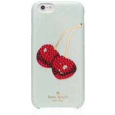 Kate Spade Embellished Cherry Iphone 6 Case (€42) ❤ liked on Polyvore featuring accessories, tech accessories, phones, phone cases, case, celular and kate spade