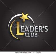 Vector graphic silver and gold symbol for company leaders with star shape - stock vector