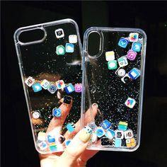 Glitter Liquid Funny Cute Emoji Transparent iPhone Cases Iphone 8 Glitter Case - Glitter Iphone Plus Case - Glitter Iphone Plus Case ideas - Iphone 8 Plus, Funda Iphone 6 Plus, Coque Iphone 7 Plus, Diy Iphone Case, Glitter Iphone 6 Case, Iphone Phone Cases, Pc Cases, Cute Phone Cases, Emoji