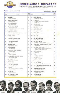 Top 40, Veronica, Beatles, Singing, Songs, Charts, Dutch, December, Entertainment