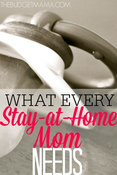 This isn't your usual Mommy advice, this is hard-core stuff, it is what every Stay-at-Home mom needs. If you're a Stay-at-Home Mom you NEED this now.