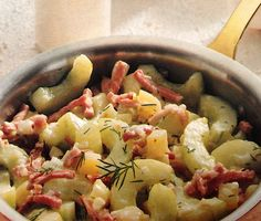 Cucumber Stew is a delicious German main dish with ham or without. Ideal for a meatless dinner, just don't use ham. Original German recipe.