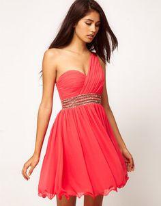 ShopStyle: Little Mistress Embellished One Shoulder Dress