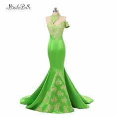 c93c7c84f6bea modabelle High Neck Ladies Formal Dress Women Lace Abiye 2017 Dubai Gold  Applique Green Mermaid Evening Dresses Long Party Dress-in Evening Dresses  from ...