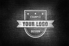 Metal Effect Online Logo Mockup - Mediamodifier