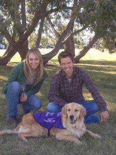 Amber Marshall and Graham Wardell with a service dog Heartland Season 6, Watch Heartland, Amy And Ty Heartland, Heartland Ranch, Heartland Tv Show, Amber Marshall, Newest Tv Shows, Favorite Tv Shows, Ty E Amy