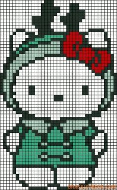 Hello Kitty perler bead pattern by Mudgey