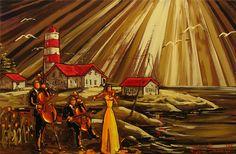 Oeuvres de l'artiste peintre Claude Bonneau Claude, Nautical Theme, Les Oeuvres, Heaven, Painting, Inspiration, Jewelry, Painters, Painted Canvas