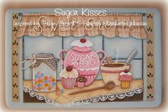 E- PATTERN : Sugar Kisses . Inspired  by Terrye French and painted by me, Elisabetta Mariani