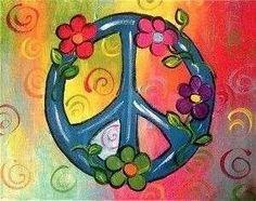Peace Sign Art #FlowerPower