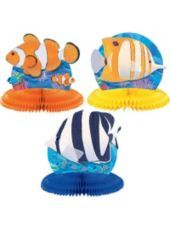 Coral Reef Honeycomb 5in Centerpiece 3ct-Theme Parties-Party City - not available at this time online.