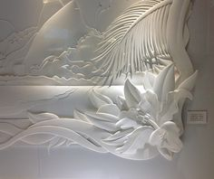 """These are two paper sculptures with 2.30 m wide, created for Renner store of Leblon mall.The idea is to honor the neighborhood of Leblon in Rio de Janeiro. In sculpture 1 we see the famous hill """"Dois Irmãos"""" (Two Brothers) and the beach. In sculpture 2 w…"""