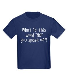 Navy 'What is This Word' Tee - Toddler, Boys & Men