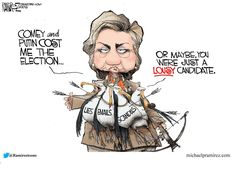 This cartoonist is exercising the right to be wrong; Hillary has WAY more scandals than just her lies, emails, and schemes, though her lies, deleted/falsified emails, and schemes are numerous.