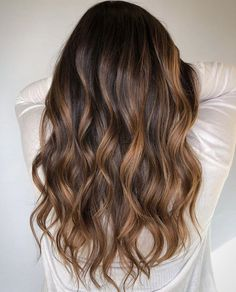 50 Trendy Brown Hair Colors and Brunette Hairstyles for 2020 - Hair Adviser Brown Hair Balayage, Brown Blonde Hair, Hair Color Balayage, Short Brown Hair, Brown Hair Dyes, Brown Hair To Ombre, Brown Hair From The Back, Lowlights For Brown Hair, Ombre Medium Hair