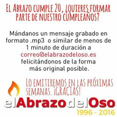 ¿Te animas? #ElAbrazodelOso #20Aniversario