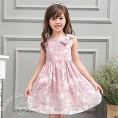 European Pink Big Roses #Kids #Dress