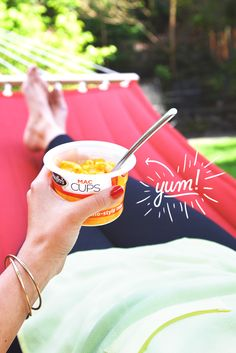 Spring and summer afternoons call for kicking up your feet and unwinding in the sunshine. Grab a hammock or just lounge out on a picnic blanket – just remember your favorite Stouffer's Mac Cup. Group Meals, Mac And Cheese, Lunch Ideas, Hammock, Picnic Blanket, Dinners, Sunshine, Lunch Box, Lounge
