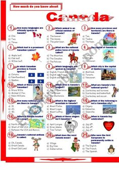 The United Kingdom - Quiz - ESL worksheet by Jayce Canadian Facts, Canadian Things, Canadian History, Canadian English, Canada For Kids, All About Canada, Fun Facts About Canada, Canada Eh, Backpacking Canada