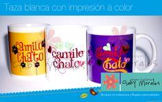 """Taza blanca impresa a color con la imagen o figura que prefieras ldg.gabriela@gmail.com, nos encuentras en Facebook """"Gaby Morales Diseños Exclusivos"""""""