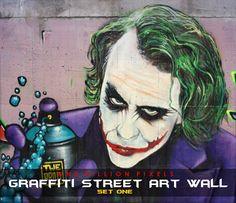 Graffiti Street Art Wall Set 1 at One Billion Pixels via Sims 4 Updates