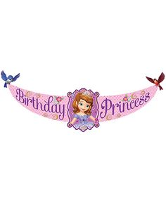 Sofia The First Princess Birthday Banner