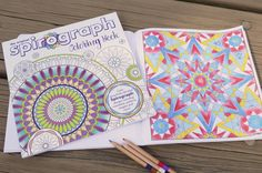 Relax and reflect with some stress-free coloring! With the Spirograph Adult Coloring Book, you can enjoy a new way to create your favorite Spirograph art all summer long!