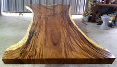 Live Edge Dining Or Conference Table Acacia Wood Live Edge Reclaimed Solid Slab Rare Size by flowbkk on Etsy