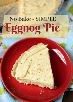 bb130e4e6e44d Thrifty Northwest Mom · This no bake eggnog pie is a delicious   simple  treat to bring to a holiday