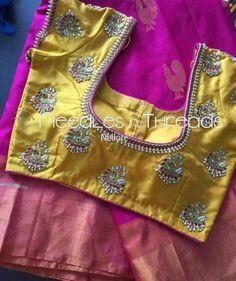 Wedding Saree Blouse Designs, Pattu Saree Blouse Designs, Blouse Designs Silk, Designer Blouse Patterns, Simple Blouse Designs, Stylish Blouse Design, Mirror Work Blouse, Maggam Work Designs, Blouse Models