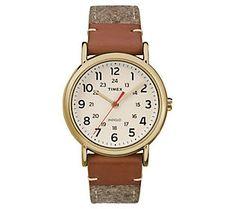 Timex Ladies Weekender Brown Strap Analog Watch