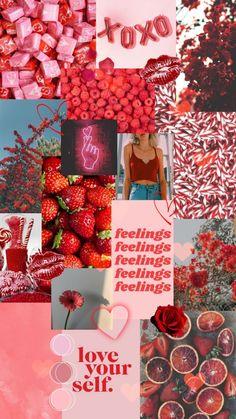 Iphone Wallpaper Vsco, Flower Phone Wallpaper, Iphone Wallpaper Tumblr Aesthetic, Red Wallpaper, Iphone Background Wallpaper, Aesthetic Pastel Wallpaper, Aesthetic Wallpapers, Wallpaper Quotes, Aesthetic Collage