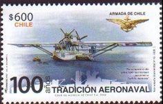 Stamp: Dornier Wal N°16 (Chile) (100 Ańos Tradicion Aeronaval) Mi:CL 2549,Yt:CL 2100