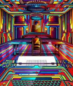 'Neon' movie posters of cult films by Quentin Tarantino, Dario Argento, Stanley Kubrick and more | Dangerous Minds