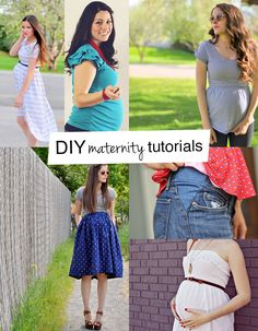 Finding maternity clothes uninspired? Time to sew your own! We've got some great ideas for you! These maternity top, skirt, dress and pants tutorials will have you looking your best with your baby bump!