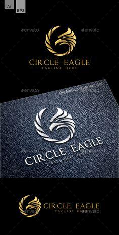 Circle Eagle Logo Design Template Vector EPS, AI Illustrator