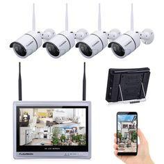 adb14d76388 4-Channel Wireless 1080P HD NVR OutdoorIP WIFI IR Camera Home Security  System
