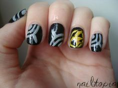 The Hunger Games nail art!