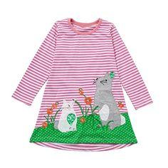 Kleinkind Baby M/ädchen Kind Herbst Kleidung Pferd Print Stickerei Prinzessin Langarm T-shirts Party Kleid Mini Kleid