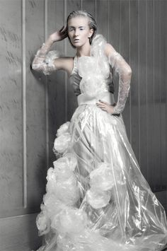 Mateusz Ligocki - Fashion photography - Recycled Dresses - Rubbish Concept ideas