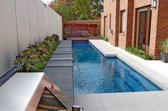 the back yard small swimming pool design