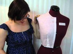 Crash Course in Fashion Design #10 Pattern Making, Part 3: Front Bodice ...