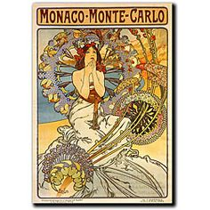 @Overstock.com - Alphonse Mucha 'Monaco-Monte Carlo' Canvas Art - Enhance your living area with this charming vintage reproduction canvas art. This gallery-wrapped giclee print of 'Monaco-Monte Carlo,' the rich and colorful work by Alphonse Mucha, will add a touch of classic style wherever you mount it.  http://www.overstock.com/Home-Garden/Alphonse-Mucha-Monaco-Monte-Carlo-Canvas-Art/3954911/product.html?CID=214117 $61.99