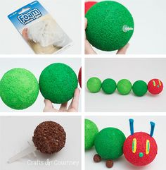 The Very Hungry Caterpillar Birthday Centerpiece: FloraCraft® Make It: Fun® Foam Connecters