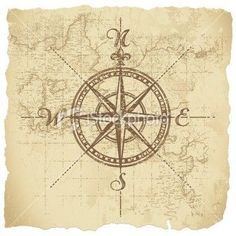 Old Fashioned Compass Rose Love this vintage compass rose